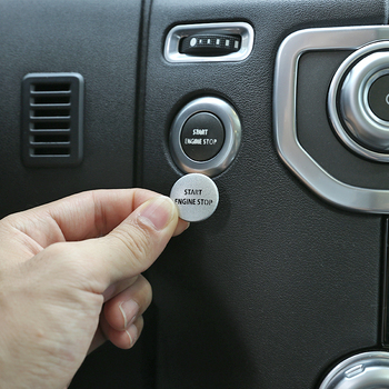 цена на Alloy Car Engine Start Stop Button Cover Sticker For Land Rover Discovery 4 2010-16 Range Rover Sport 2010-13 Interior Accessory