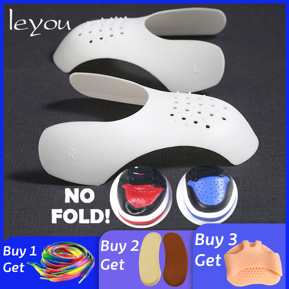 Leyou Shoe Shields Shoe Stretcher Shaper For Sneakers Shoe Shape Holder Anti Crease Wrinkled Fold Shoe Trees