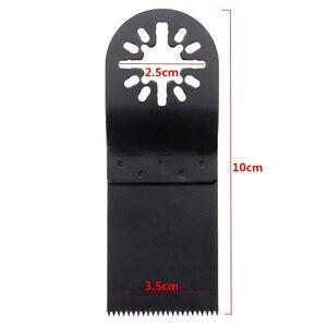 1 ud. Accesorios de hojas de sierra oscilantes HCS 35mm madera/Metal hojas de sierra multiherramienta para herramienta de corte de madera eléctrica Fein Bosch Makita