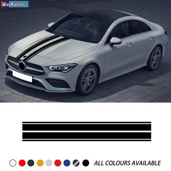 Car Hood Sticker Engine Cover Edition 1 Bonnet Stripes Decal For Mercedes Benz CLA45 W176 W177 W204 W205 C63 A C GLA CLA GLC AMG car qi wireless charger for mercedes benz w205 amg c43 c63 amg glc 43 glc63 x253 c class glc accessories phone fast charging