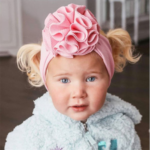 Image 3 - Baby Girl Headbands Baby Headwrap Bloom Wrap Headbands Baby Headwraps Puff Bloom Turbans Handmade Outfit Hairband