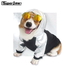 Fashion Pet Dog Laser Skin Hoodie Clothes Puppy Winter Coat Jacket For Small Medium Dogs Hooded Warm Sweater T-shirt YPC07