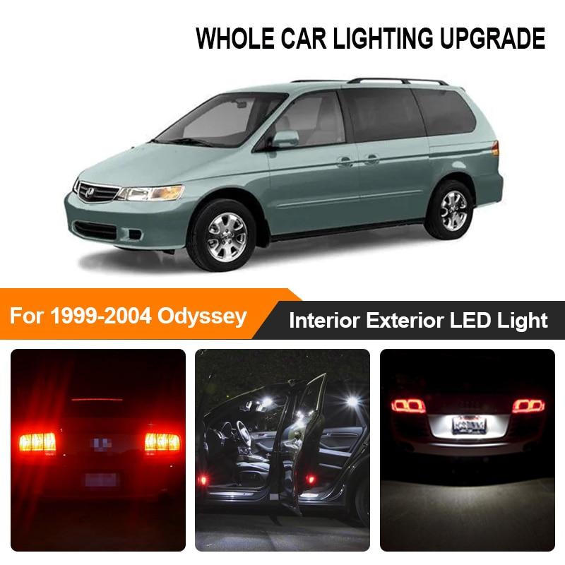 White Red Car Bulbs Exterior Interior LED Light For 1999-2002 2003 2004 Honda Odyssey Reverse Brake Parking Turn Signal Lamp