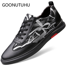 2019 new fashion men's shoes casual genuine leather male flats sneakers lace up size 36-45 shoe man nice platform shoes for men цены онлайн