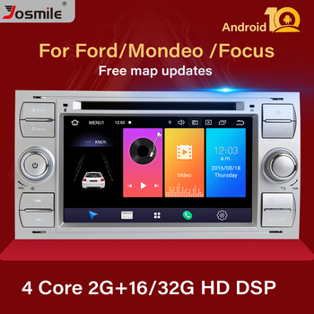 DSP 2 din Android 10 Car Radio For Ford Focus 2 3 mk2 Kuga Mondeo 4 Fiesta Transit Connect S-C MAX Multimedia GPS Navi head unit image
