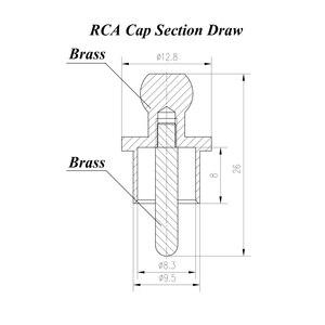 Image 5 - Prise de court Circuit plaquée or avec capuchon RCA, connecteur Phono prise de protection RCA
