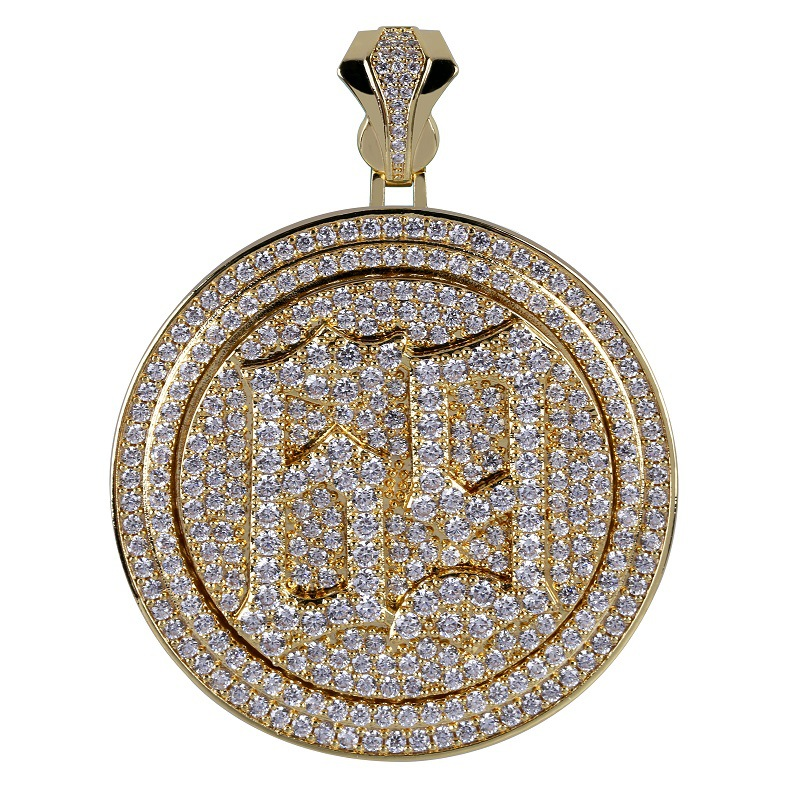 Spinner 69 Saw Letters Pendant Necklace Men Iced Out Cubic Zircon Chains Hip Hop / Punk Gold Silver Color Charms Jewelry For Men
