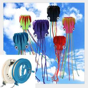 Kite Ballbearing-Handle-Accessories with Line Reel Grip-Wheel String Flying Round Outdoor
