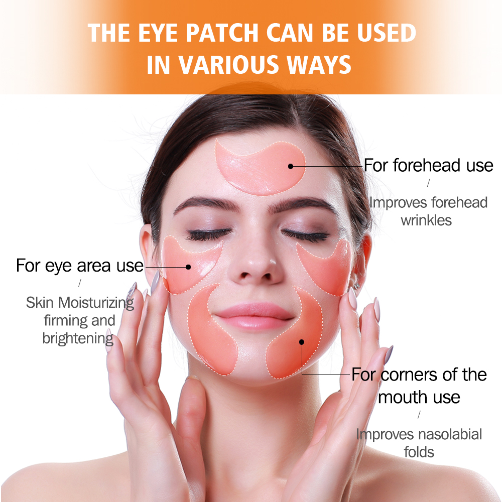 VIBRANT GLAMOUR Eye Mask Moisturizing Hyaluronic Acid Eye Patch Skin Care Collagen Anti Aging Gel Remove Dark Circles Eye Bag-4