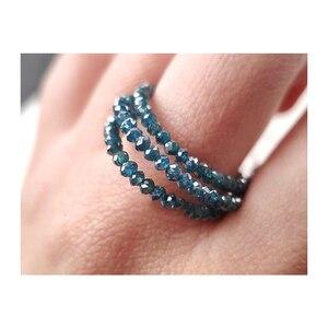 ICNWAY 6 см натуральный голубой алмаз резка Roundel 1,8-2,2 мм драгоценный камень бусины для изготовления ювелирных изделий