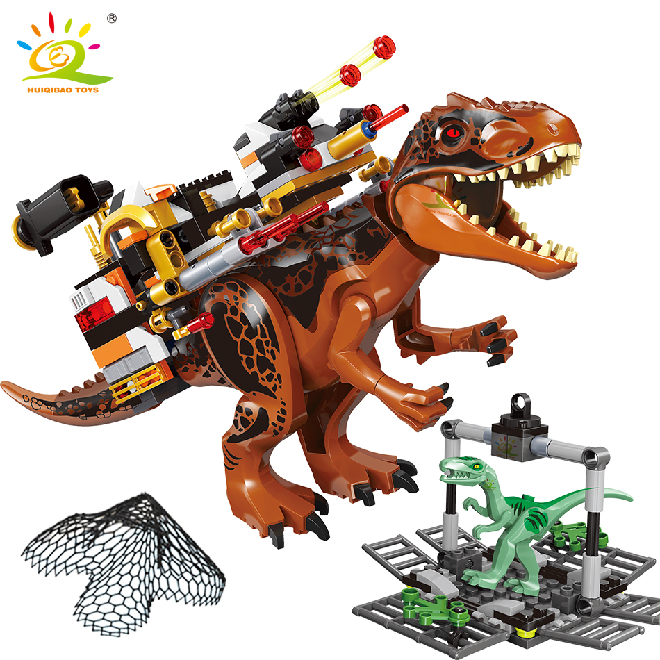 312pcs Jurassic Tyrannosaurus Raptor Dinosaur Rescue World Park Model City Building Blocks Figures Bricks Children Toy For Kids