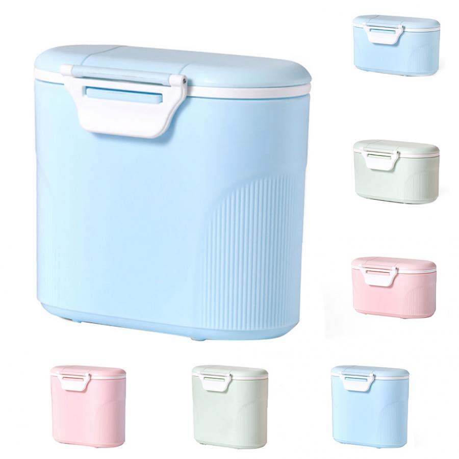 Baby Milk Powder Container With Spoon Portable Infant Formula Dispenser Food Storage Box With Scoop Airtight Baby Food Storage