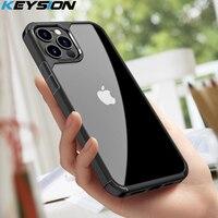 KEYSION della Radura di Modo di Caso Antiurto per il iPhone 12 Pro Max Trasparente Del Telefono Del Silicone Della Copertura posteriore per il iPhone 12 mini 2020 nuovo 12