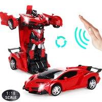 24CM 1:18 RC Auto Gesture Sensing Transformation Auto Roboter Verformung Batterie Elektrische Remote-gesteuert Spielzeug Autos für Jungen d01