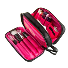 Classic Cosmetic Bag Women Small Makeup Brush Case Black Waterproof Professional Travel Organizer Toiletry Kit