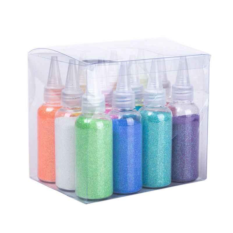 30g Glitter toz pul dolgu açık/yumuşak hamur oyuncaklar kil çamur tırnak sanat B36E