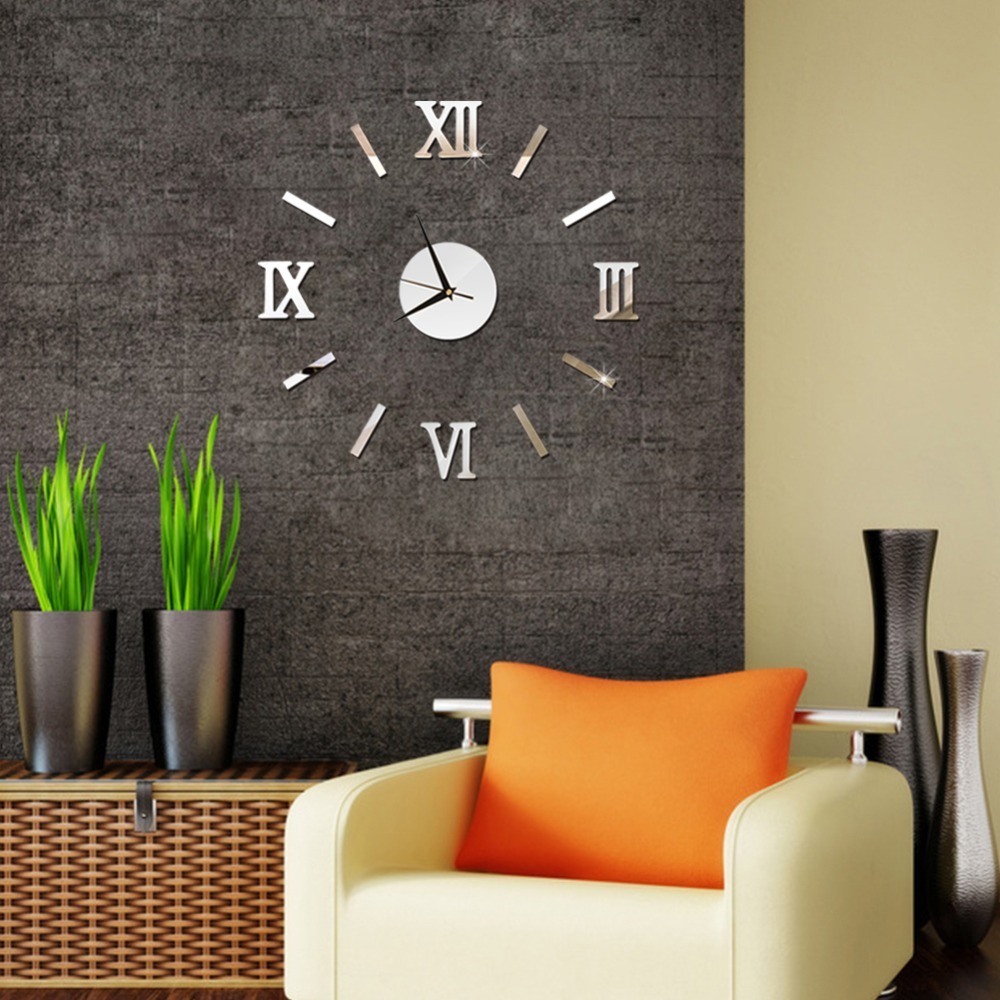 3D Wall Clock Mirror Wall Stickers Fashion Living Room Quartz Watch DIY Home Decoration Clocks Sticker reloj de pared 9