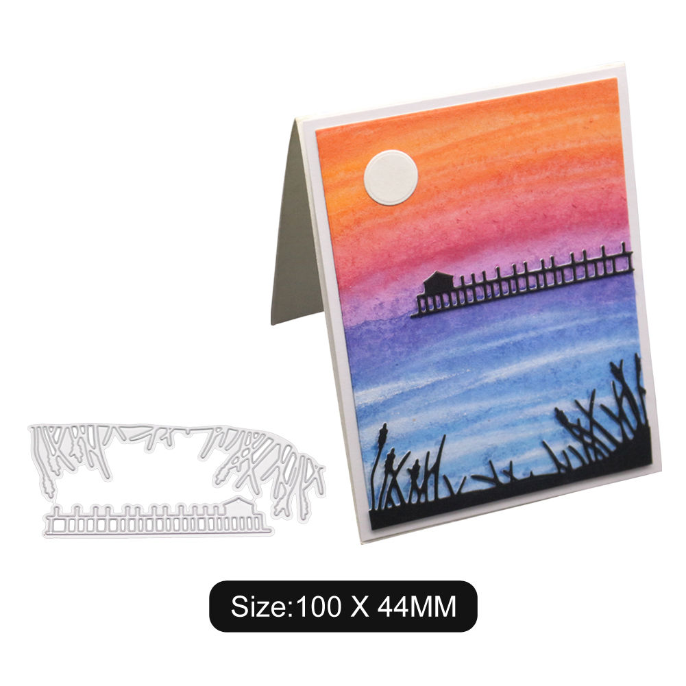 Cutting Dies Moonlight On The Lake  For DIY  Scrapbooking Embossing Clear Stamps And Dies Die Cuts For Card Hot Foil Dies
