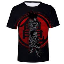 New Hot Dragon Ball Z Goku Black Vegeta 3D T-shirt Men 2019 Summer Anime T shirt O-Neck Tshirt Casual Brand Dragonball Tops Tee(China)