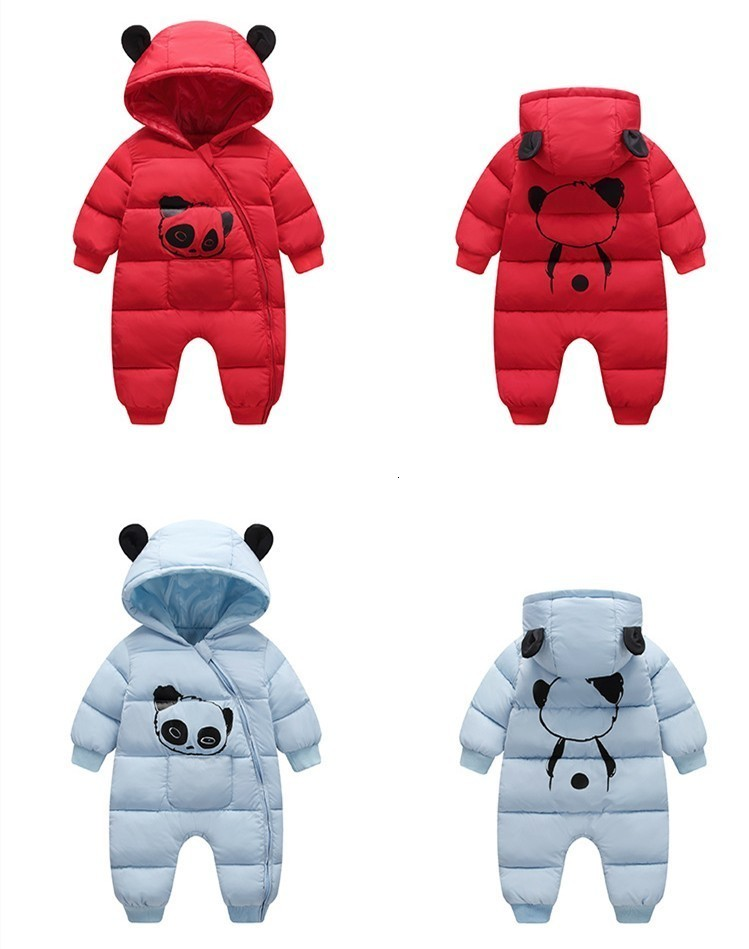 Hf37847842d9d410681c5ca52fc73a4c1V Baby boy girl Clothes 2019 New born Winter Hooded Rompers Thick Cotton Outfit Newborn Jumpsuit Children Costume toddler romper