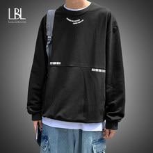 Sudaderas con capucha informales para hombre, jerséis Harajuku de gran tamaño, sudaderas coreanas de Hip-Hop, Tops holgados de moda, 2021