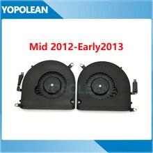 Original esquerda & direita cpu ventilador de refrigeração para macbook pro retina 15