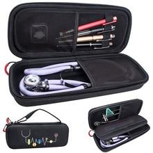 Hard EVA แบบพกพาหูฟัง Carry Travel กล่อง SHELL กระเป๋าตาข่ายสำหรับหูฟังแพทย์อุปกรณ์เครื่องมือ Organizer