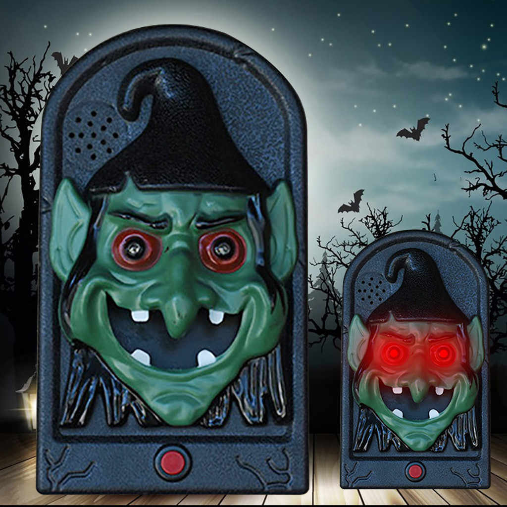 Theme Scary Doorbell Halloween Prop Terror Scary Haunted House Decoration Light LED Toy Doorbell Great decoration prop idea