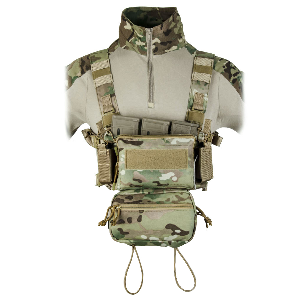 Tactical Micro Chest Rig Modular H HarnessD3CR Funny Pack SACK Pouch Combat Vest 5.56 Mag Airsoft