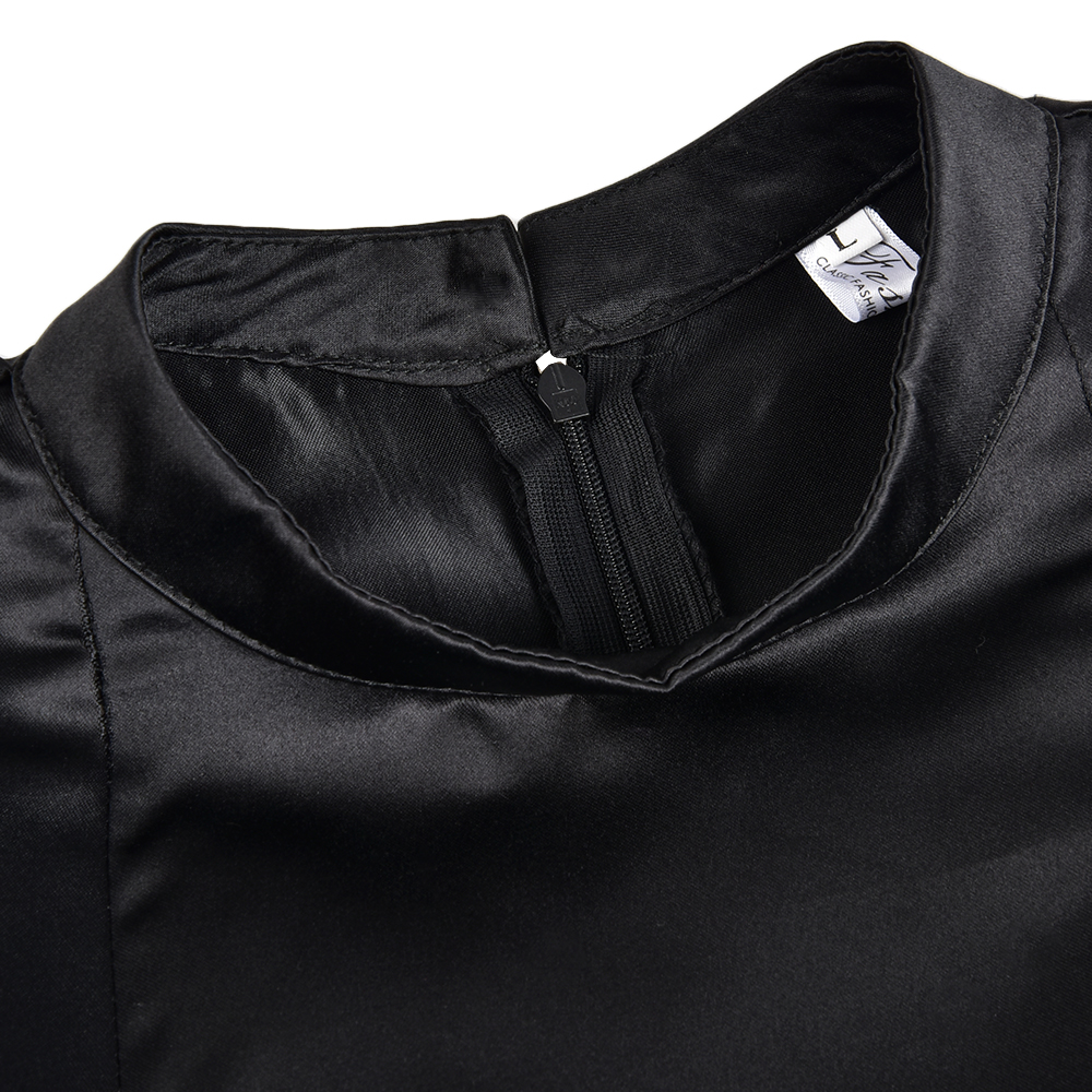 Высокое качество Элегантный Платье черного цвета Для женщин Винтаж дамы с пышной юбкой для выпускного вечера вечерние ночное торжественно...
