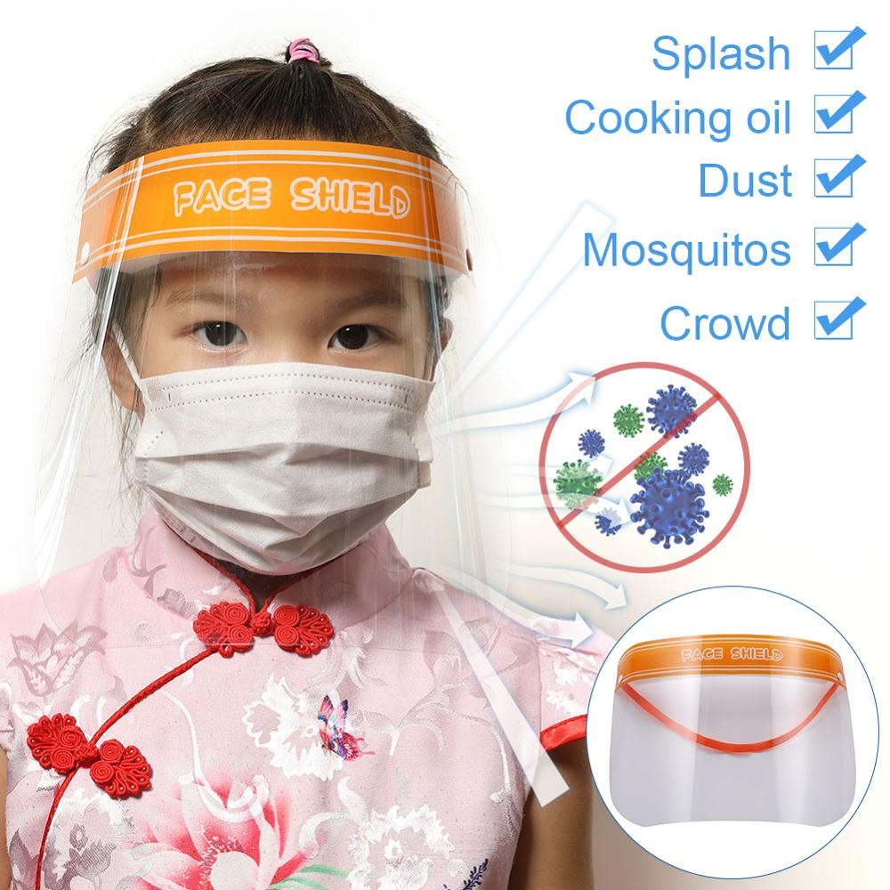 Erilles Children Protective Hat Face Shield Dust-Proof Anti-fog Anti-Splash Reusable Face Protection Mask For Girls And Boys