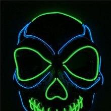 Halloween Mask  Decorative Face Masks Night Atmosphere Men Women Wear LED Light-Emitting