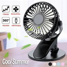 USB Rechargeable Clip Desktop/Table Fan Mini Portable Clamp Fan 360degree Rotating Ventilator With Air Cooler Fan