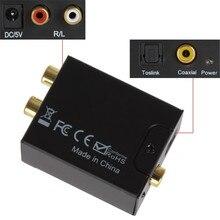 Cyfrowy optyczny koncentryczny konwerter audio sygnał na analogowy Adapter DAC Spdif 2 * dekoder wzmacniacza RCA konwerter światłowodowy