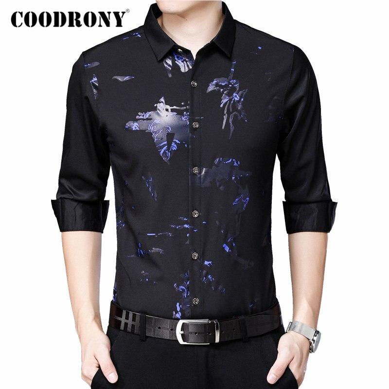 COODRONY Men Shirt Long Sleeve Shirt Men 2019 New Arrival Autum Casual Shirts Streetwear Fashion Pattern Camisa Masculina 96073