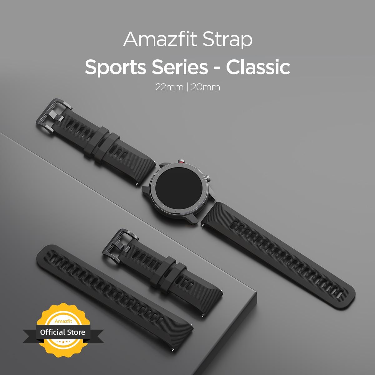 Original Amazfit Strap Sports Series 20 Mm Classic Wristband Strap  For Smartwatch Smart Watch Quick Release Design