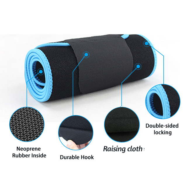 Sweat Wrap Slim Body Lumbar Support Belt Waist Trimmer Belt for Women Weight Loss Abdominal Trainer Slimming Body Shaper 3