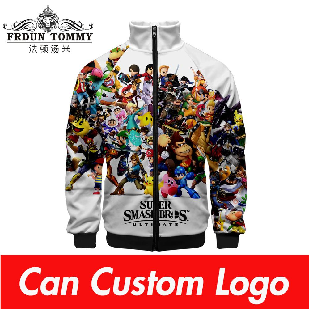 2019 Super Smash Bros.Ultimate Zipper Sweatshirt Casual Hoodies New Fashion Cool Highstreet Spring Clothes Sweatshirt