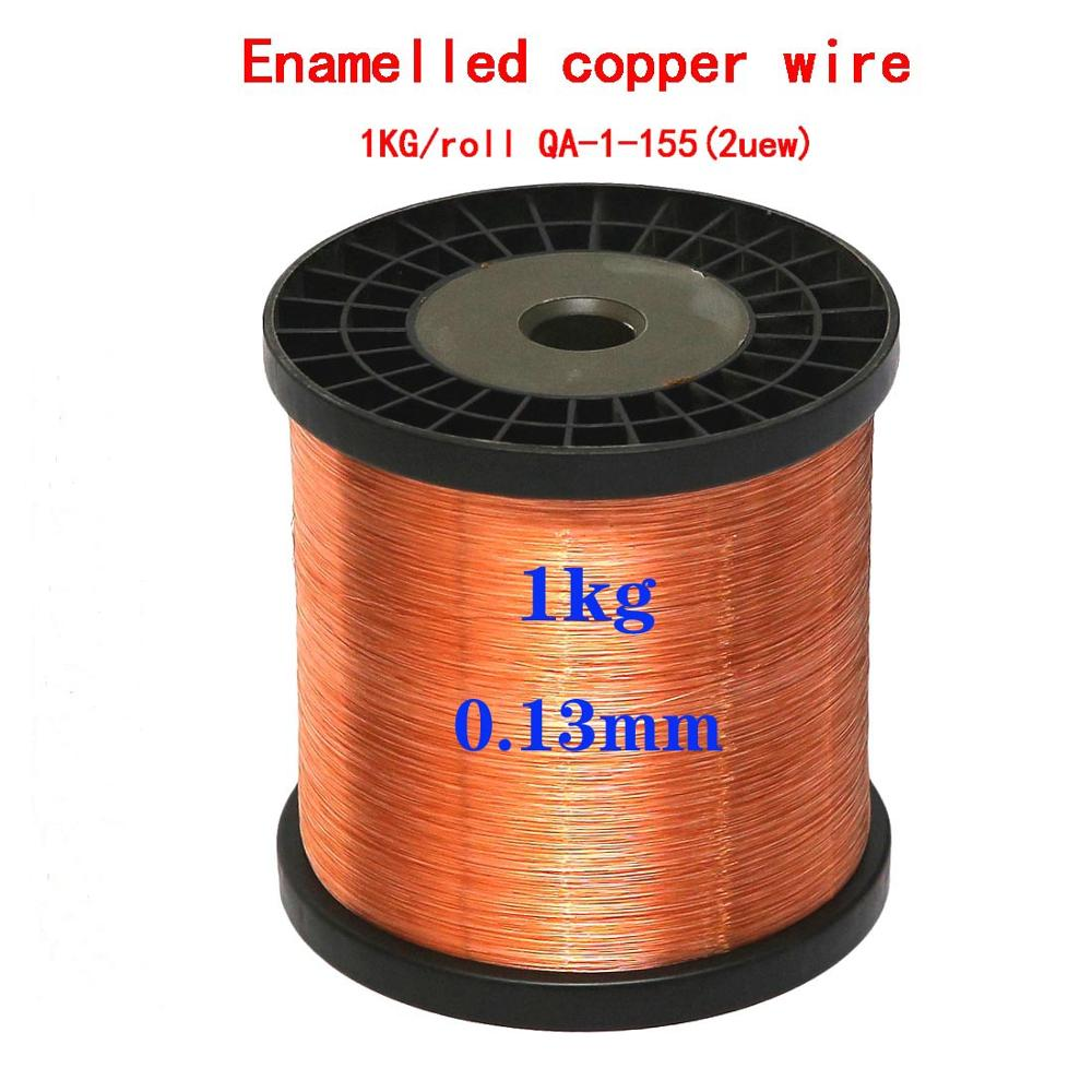 Купить с кэшбэком 1000g 0.04 0.05 0.06 0.08 0.1 0.15 0.2 0.25 0.31 1.0 1.2 mm Qa-1-155 Wire Enameled Copper Wire Magnetic Coil Winding High temper