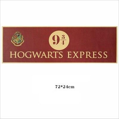 Harri Potter Hogwart Express Platform 9 3/4 (nine And Three Quarters) Poster 1 Pcs