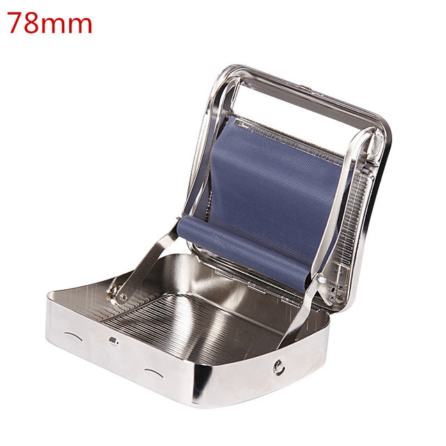 New 70mm/78mm/110mm Metal Automatic Cigarette Tobacco Smoking Rolling Machine Roller Box Cigarette Accessories