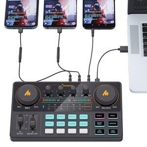 MAONOCASTER AM200 микрофон миксер цифровой аудио интерфейс Подкаст звуковая карта перезаряжаемый подкастер для телефона компьютера ПК