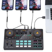 MAONOCASTER-Mezclador de micrófono LITE AM200, interfaz de Audio Digital, Podcast, tarjeta de sonido recargable, para teléfono, ordenador y PC