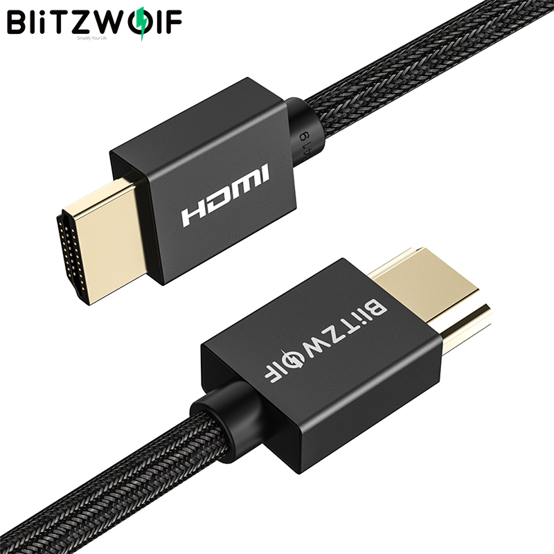 BlitzWolf BW-HDC1 HDMI Cable Video Cables Gold Plated High-Definition 4K 60Hz HD 3D Cable For HDTV Splitter Switcher For PC TV