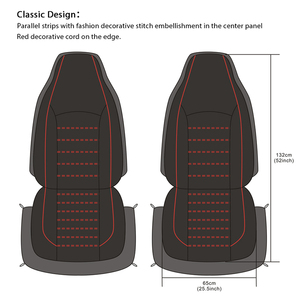 Image 5 - AUTOYOUTH Front Car Seat Covers Fashion Style High Back Bucket Car Seat Cover Auto Interior Car Seat Protector 2PCS For toyota