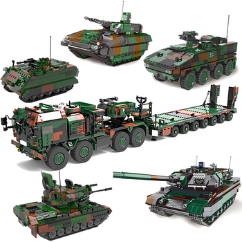 New Xingbao Military Weapon Series Armored Fighting Vehicle Tank Carrier Tractor Truck Anticraft Building Blocks Bricks WW2 Toys