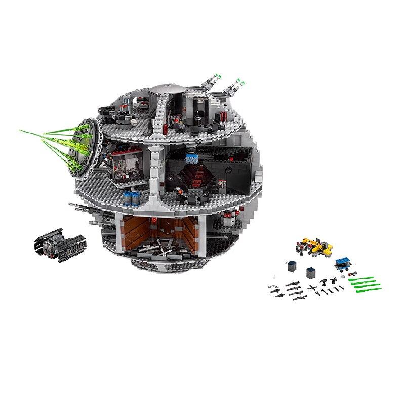 IN STOCK 05063  05132 07043 Building Blocks Star Wars Death Star Toys Bricks Kit 75192 75252