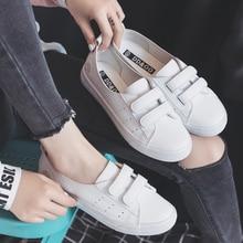 Женские кожаные туфли, дышащие белые повседневные кроссовки на плоской подошве, с цветочным принтом, весна лето
