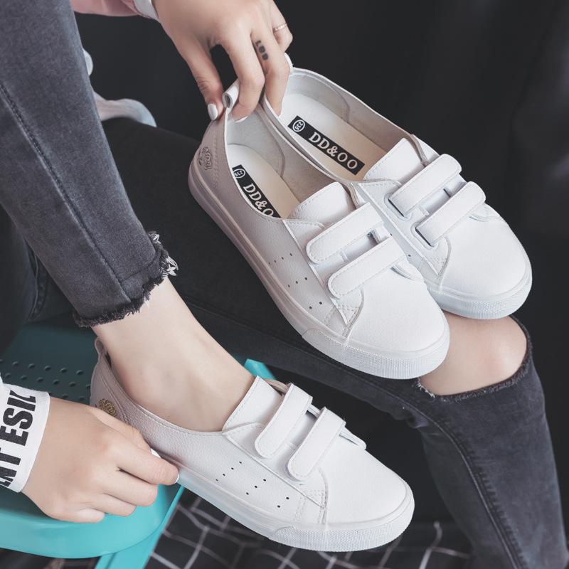 Women's Leather Shoes Fashion Flats Spring Summer Women Causal Sneakers Floral Breathable White Shoes High Quality Shoes Women