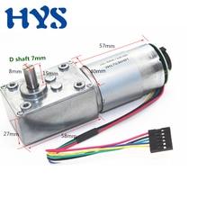 цена на HYS Gear Motor DC 12V  24V Encoder Mini Electric Motors 12rpm-470 rpm Torque 60kg.cm DC 12 Volt Reducer Worn Motors reversible